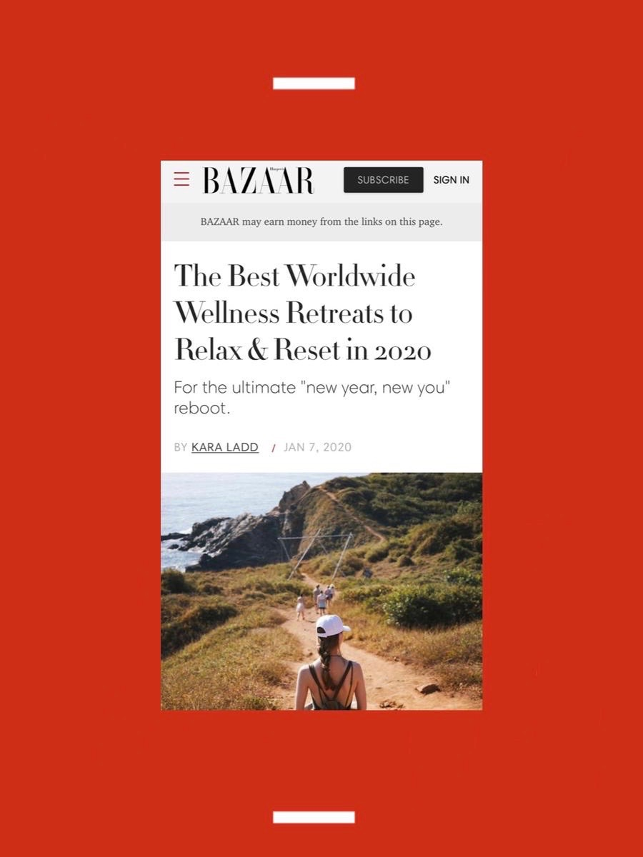 OUR RETREAT FEATURED IN HARPER'S BAZAAR